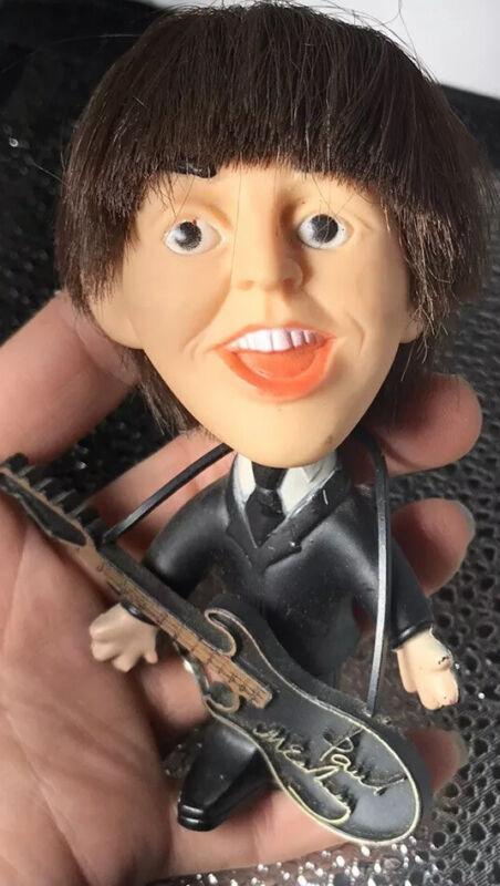 Beatles Paul McCartney w/Guitar Instrument Doll Figurine Vintage 1964 Excellent