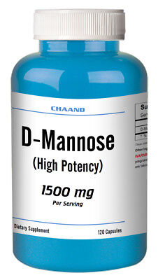 D-Mannose - High Potency - 120 Capsules 500mg, 1500mg Serving Fast USA Shipping D-mannose 500 Mg Capsule