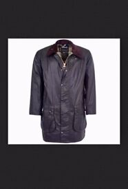 BARBOUR BORDER WAXED JACKET IN SAGE SIZE S BNWT RRP £249