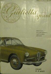 * Alfa Romeo Giulietta Sprint Catalogue Prospekt - 1.1955 - <span itemprop=availableAtOrFrom>Bregenz, Österreich</span> - Widerrufsbelehrung Widerrufsrecht Sie können Ihre Vertragserklärung innerhalb von einer Woche nach Erhalt der Ware ohne Angabe von Gründen in Textform (z. B. Brief, E-Mail) oder - wenn Ih - Bregenz, Österreich