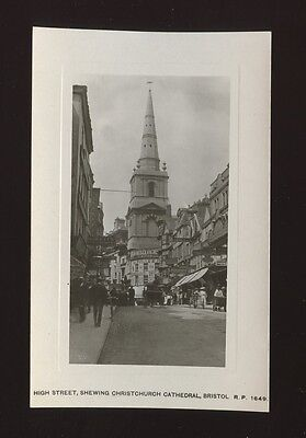 Glos Gloucestershire BRISTOL Cathedral street scene c1900/20s? RP PPC