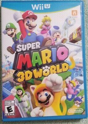 Super Mario 3D World (Wii U, 2013)pre-owned **No Scratches**mirror finish C-pix