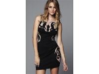 Lispy Dress Size 12 Black & Nude
