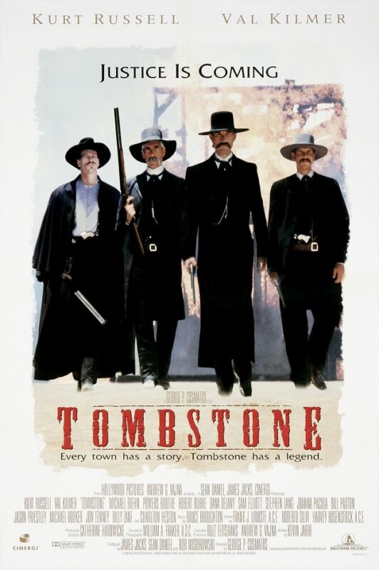 Tombstone movie poster print (style B) : 11 x 17 inches Val Kilmer, Kurt Russell