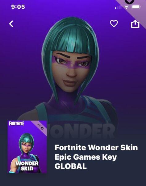 Wonder Skin Code Fortnite | Other Video Games & Consoles | Gumtree