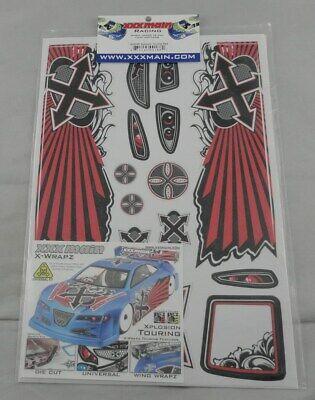 XXX Main Xplosion Red 1/10th Touring Car Body Graphics X-Wrapz Set XXXW004R