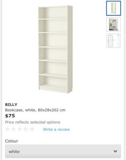 Wanted: Wanted: White Billy Bookcase