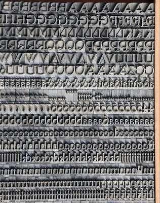 Bleischrift 7,5 mm Bleisatz Buchdruck Alphabet Handsatz Bleilettern Typographie