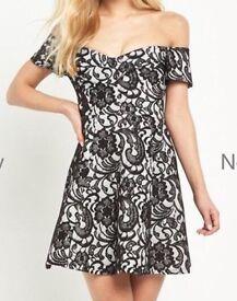 River island dress Bardot style New size 12