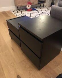 Ikea bed side lockers