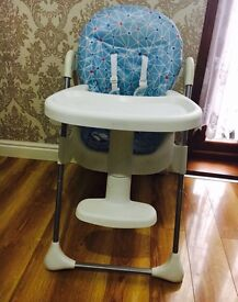 Adjustable baby highchair