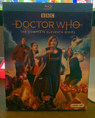 BRAND NEW!!! DOCTOR WHO: THE COMPLETE ELEVENTH SERIES 3 DISC BLU-RAY