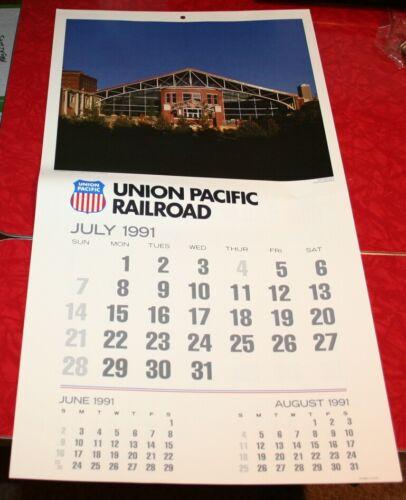 1991 UNION PACIFIC RAILROAD UPRR WALL CALENDAR