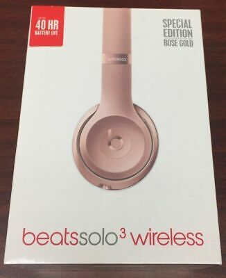 NEW Beats by Dr. Dre Solo 3 Wireless Headphones Rose Gold Open Box