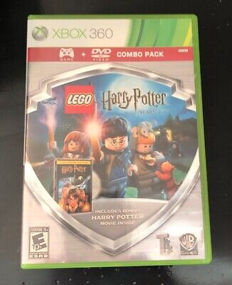 Lego Harry Potter: Years 1-4 & Sorcerer's Stone DVD XBOX 360 WB Games Combo