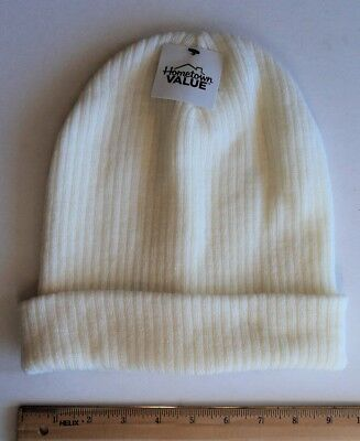 Cheap Winter Hats (Cold Winter Stocking HAT Style Beanie White Eggshell - FLASH)