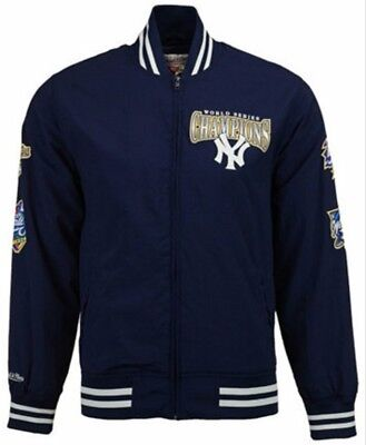 Mitchell Ness New York Yankees Champions Rings Team History Warm up Jacket -Navy