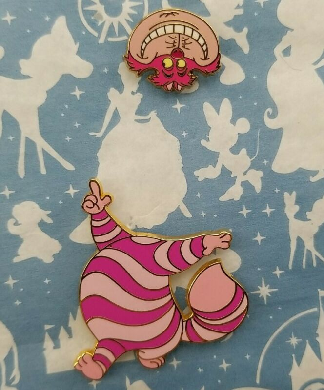Disney Auctions Cheshire Cat Pin Set Alice in Wonderland 500 Limited Edition LE