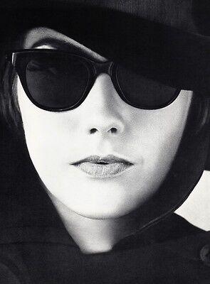 1960's Vintage FEMALE FASHION Sunglasses Hat Woman 16x20 Photo Art WINGATE PAINE