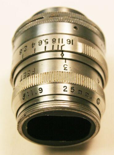 Kodak Anastigmat 25mm  f/1.9  C Mount Lens