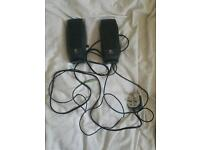 Logitech set of 2 speakers for your phone computer tablet or whateva