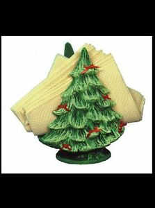Ceramic Bisque Christmas Tree Napkin Holder, U Paint