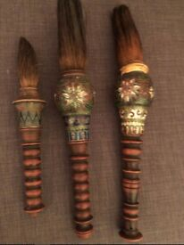 RARE - ANTIQUE - A group of three Chinese calligraphy brushes - CIRCA 1900'S