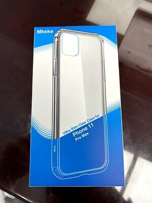 Mkeke Ultra Slim Clear Case for iPhone 11 Pro Max - Shockproof Slim Case