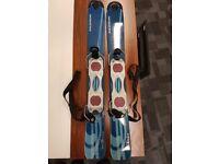 Snow blades (short skis), Ladies, Solomon, blue good condition.