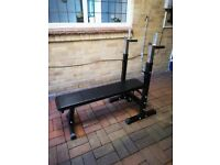 Adjustable Weight Bench Folding, Sit up Workout Barbell Dip Station Lifting Chest Press Exercise Gym