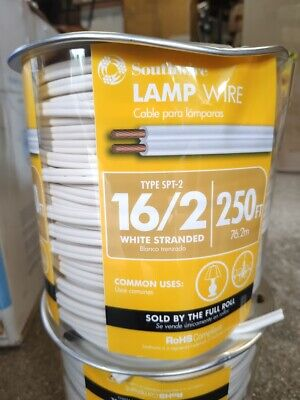 Southwire 162 Spt-2 300 Volts Lamp Cord Wire 250 Ft White Stranded - Save On 2
