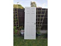 6 panelled Internal Door White Textured