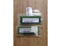 Laptop DIM DDR2 1Gb matched pair.