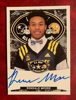 RONDALE MOORE Purdue Boilmakers 2018 Leaf Army *TOUR* Certified  AUTOGRAPH RC