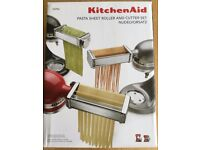 [*ITEM NOW SOLD*] KitchenAid Pasta Sheet Roller and Cutter Set 5KPRA