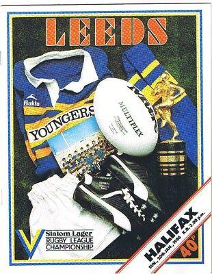 Leeds v Halifax 1984/5 (20 Jan)