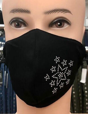 Italy Nasen Mundschutz Maske,Gesicht,Atemschutz,Sterne Motiv,Strass,Baumwolle