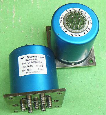 1pc TELEDYNE CCT-39S86C 12V DC-18GHz  RF coaxial switch