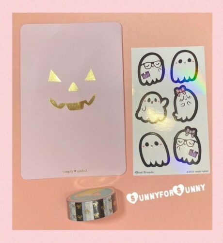 Paca Post HALLOWEEN Washi Tape & Simply Gilded Stickers + Journaling Card