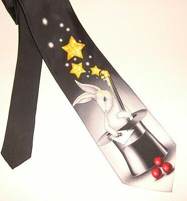 Brand New!! ART OF PRESTIDIGITATION Magician's 100% Microfiber Neck Tie
