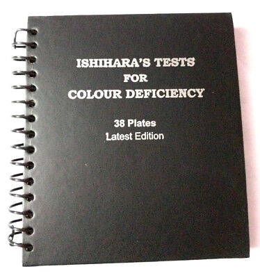 Brand New 38 Plate Ishihara Test Book For Color Blindness Ophthalmology