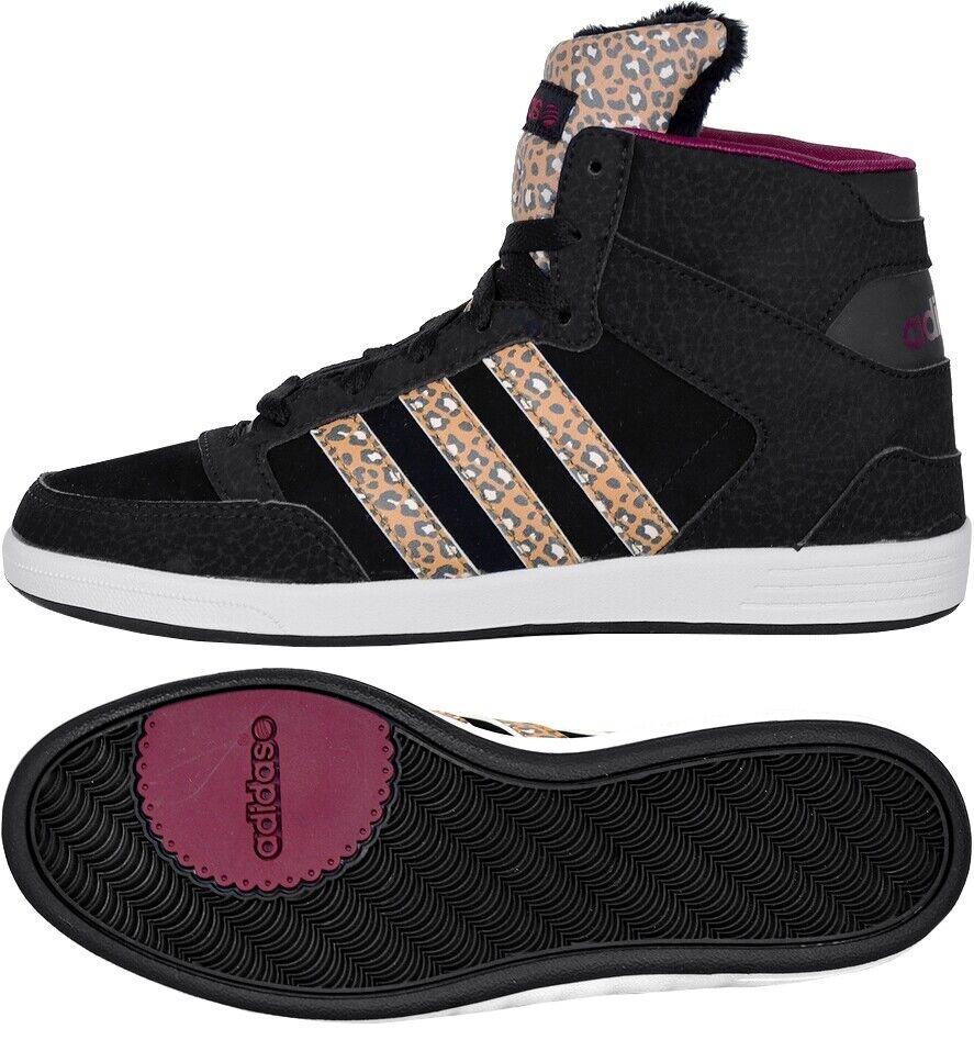 Adidas HOOPS CST ANIMAL W Damen Mid Sneaker Winter Schuhe Leopard Shoes schwarz