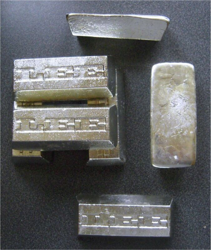 8 Ounces TIN metal Ingot 99.97% pure Bullion - 226.8+ grams lb BAR