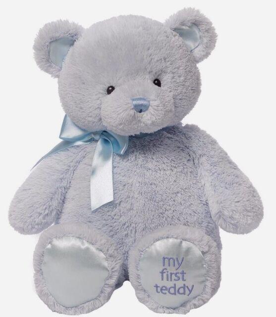 GUND My First Teddy Large Blue Plush Soft Toy (40439801) NEW Xmas Gift Idea