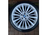 BMW 18 inch alloys genuine OEM not cheap copies
