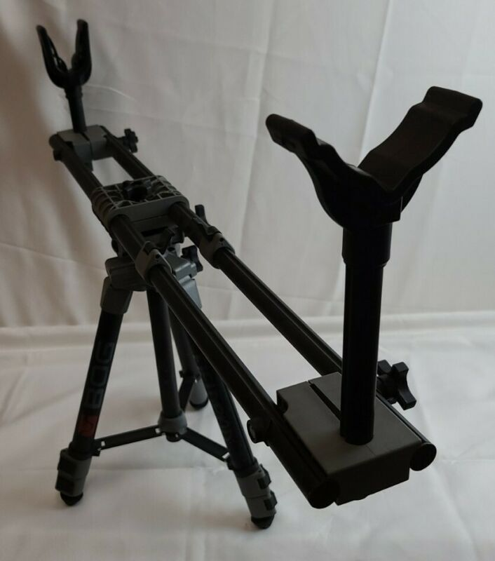 "Rifle Shooting Rest Tripod Adjustable Gun Crossbow Fieldpod Hunting ""USED"""