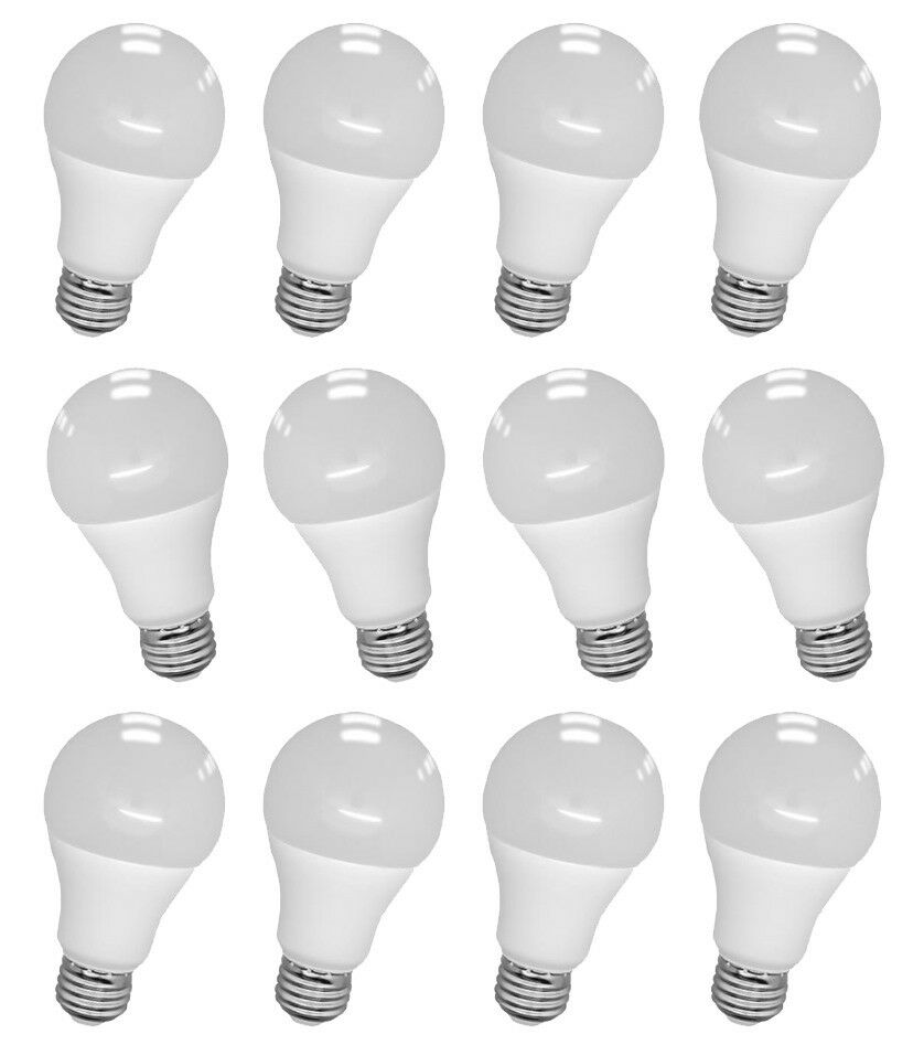 24 Pcs LED Light Bulb Energy Saving Globe Lamp A19 9W 5000K