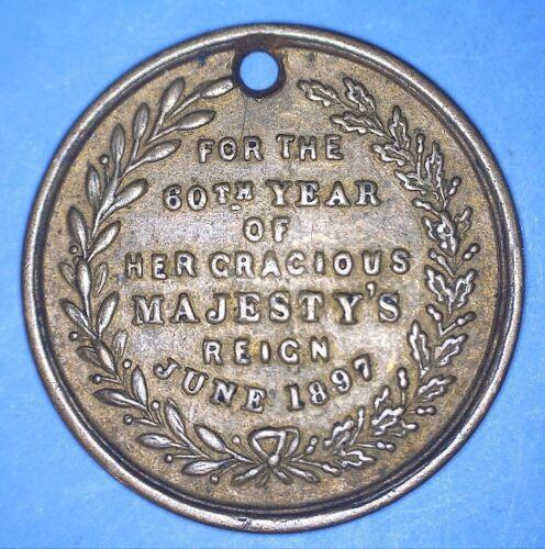 JUNE 1897 VICTORIA DIAMOND JUBILEE COMMEMORATIVE MEDALLION - *99735621