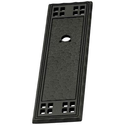 Liberty Mission PN0045-MIB-A Textured Flat Black Cabinet Knob Backplate