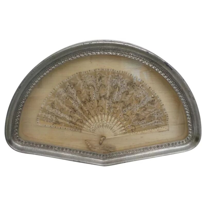 Amazing Antique French Framed Lace Fan